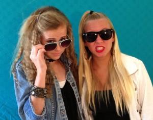 Anja & Makayla 80's fun